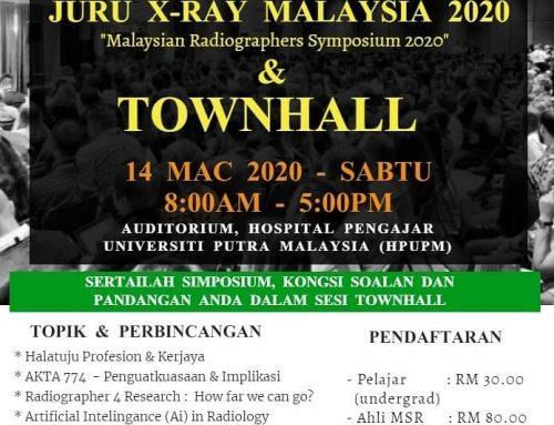 Symposium Juru X-ray Malaysia 2020 & Townhall