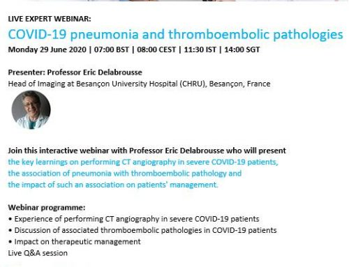 Webinar 2: COVID-19 penumonia and thromboembolic pathologies