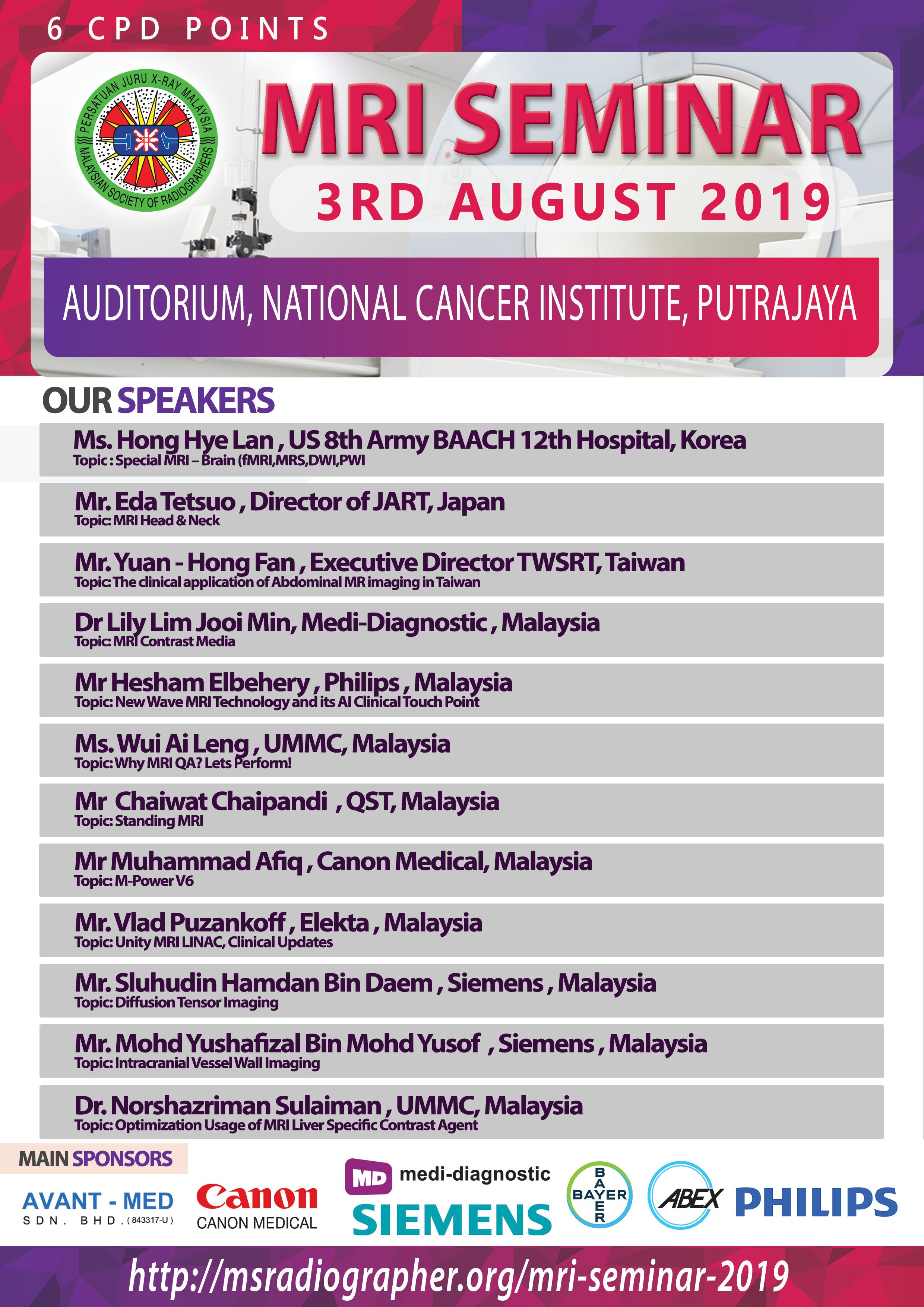 MRI Seminar 2019