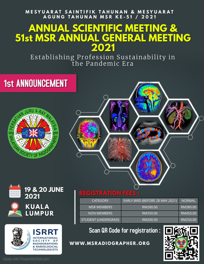Annual Scientific Meeting & 51st MSR Annual General Meeting (AGM) 2021